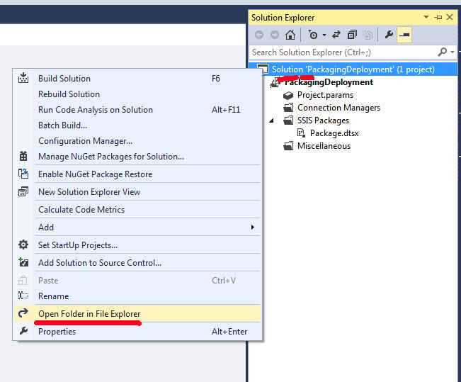 Package Deployment in SSIS using example step by step