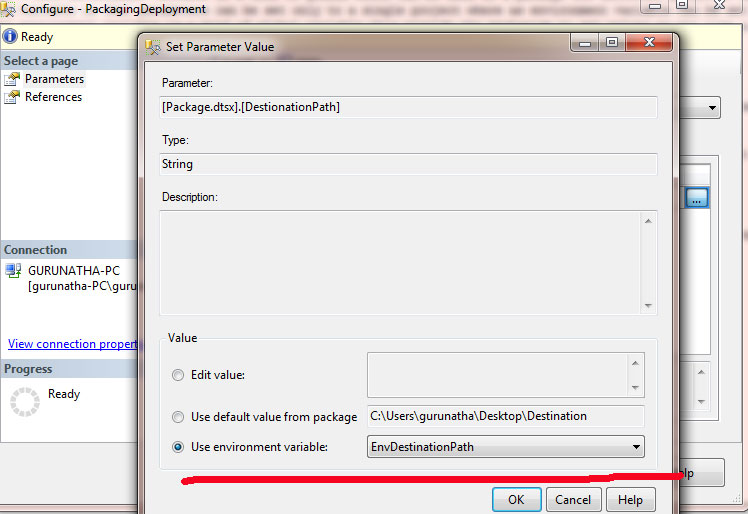 Use of Parameters and Environment Variables with Project Deployment
