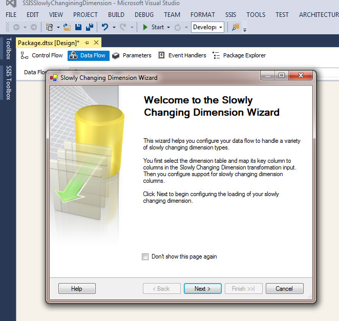 Understand Slowly Changing Dimension (SCD) with an example in SSIS