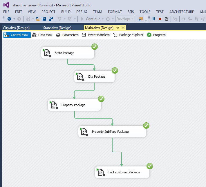 Designing SSIS Star Schema using Dimensions and Fact Table