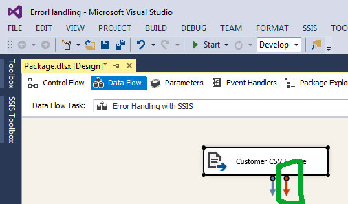 error handling in ssis with an example step by step learn msbi