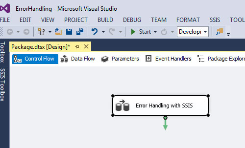 Error Handling in SSIS with an example step by step : Learn